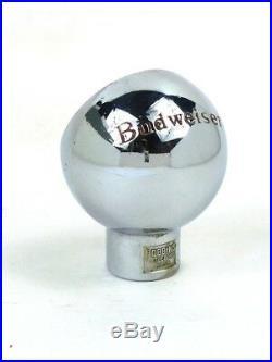 1940s BUDWEISER BEER Robbins porcelain Ball Knob Tap Handle Tavern Trove