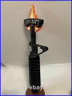 2ND AMMENDMENT GUN CRAFT draft beer tap handle. CHICAGO, ILLINOIS