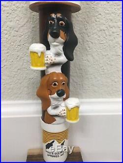 2 Basset Brewery Beer Tap Handle Figural Dog Beer Tap Handle Chalkboard Beer Tap