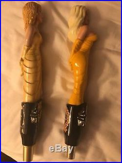 2 Hollywood Blondes, Kosch, The Great Beer Company L. A, beer tap handles