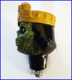 3 Floyds Zombie Dust Beer Tap Handle Ceramic Figure Munster Skull Crown Bar Pull