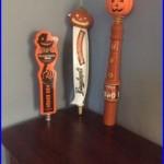 3 Halloween Pumpkin Beer Tap Handles. Leininkugel's, UFO, & Two Roads