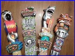 4 Lost Coast Brewery Figural Great White Fogcutter AArgh Beer Keg Tap Handle Set