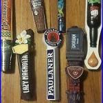 7 Beer Tap Handles Rare Htf Mancave