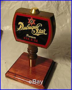 941 Super Rare Vintage DUBUQUE Star Premium Beer Tap Handle Beautiful