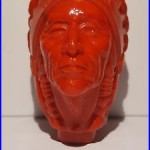 Antique / Vintage Iroquois (red) Indian Head Beer Tap/ Knob / Handle Buffalo Ny