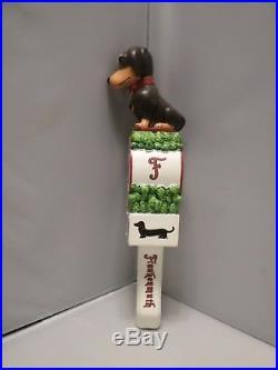 Awesome Frankenmuth Oktoberfest Dog Daschund 11 Draft Beer Keg Tap Handle
