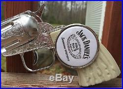Awesome JACK DANIELS Bar Pub Beer Tap Handle Knob Man Cave Pistol Display