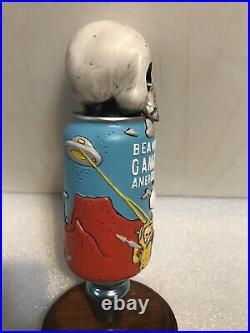 BEAVERTOWN GAMMA RAY 3D SKULL CAN Draft beer tap handle. ENGLAND