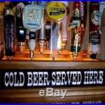 BEER TAP HANDLE DISPLAY 18 SPOT Lighted COLD BEER SERVED BAR SIGN