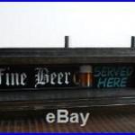 BEER TAP HANDLE DISPLAY HOLDS 3 FINE BEER SERVED HERE BAR SIGN