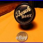 BOSCH BEER TAP KNOB PORCELAIN HOUGHTON MICHIGAN BLUE & SILVER HANDLE PULL DRAW