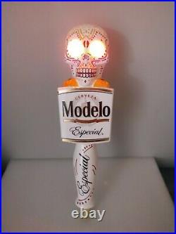 Bad Ass Modelo Especial Light Up Sugar Skull Very Rare 11.5 Beer Tap Handle
