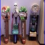 Beer Keg Tap Handle Lot Set 4 Diff Flesh & Blood Dogfish Uber Namaste