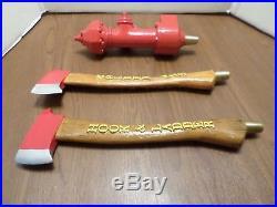 Beer Keg Tap Handle Lot Set Hatchet Axe Fire Hydrant Fireman Hook Ladder RARE
