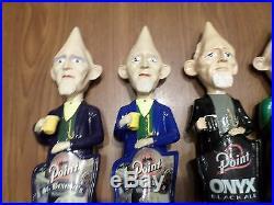 Beer Keg Tap handle Marker Lot of 4 Steven's Point Pin Head Man Onyx Einbock St