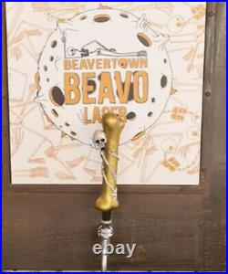 Beer Tap Handle Beavertown Beavo Beer Tap Handle Rare Figural Skull Tap Handle