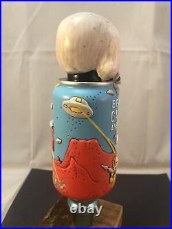 Beer Tap Handle Beavertown Gamma Ray Beer Tap Handle Rare Figural Skull Can Tap