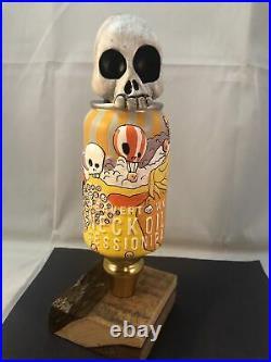 Beer Tap Handle Beavertown Neck Oil Beer Tap Handle Rare Figural Skull Can Tap