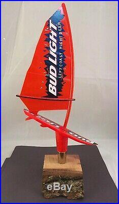 Beer Tap Handle Bud Light Wind Surfboard Beer Tap Handle Rare Figural Tap 12