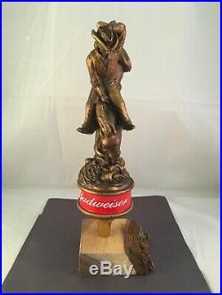Beer Tap Handle Budweiser Bucking Bronco Beer Tap Handle Figural Rodeo Beer Tap