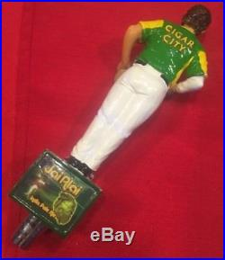 Beer Tap Handle Cigar City Jai Alai IPA Beer Tap Handle Figural Jai Alai Player