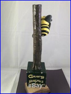 Beer Tap Handle Grays Honey Ale Beer Tap Handle Rare Figural Bee Tap Handle