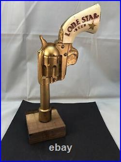 Beer Tap Handle Lone Star Revolver Beer Tap Handle Rare Figural Gun Tap Handle