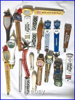 Beer Tap Handle Lot Of 18 Used As Is 805 Left Hand Pizza Port Modern Times