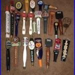 Beer Tap Handle Lot, Sam Adams, Saranac, Miller, Stella, Blue Point, 25 Handles