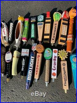 Beer Tap Handle Lot of 38 Mixed Lot Of Domestic, Craft, Import