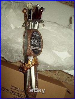 Beer Tap Handle OMMEGANG Game of Thrones Take the Black Stout Figural NIB 11