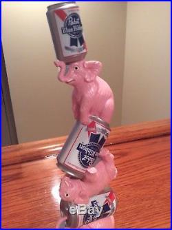 Beer Tap Handle Pabst Pink Elephants