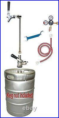 Beer Tap Handle Party Pump Co2 kegerator converstion Kit Draft Coupler keg