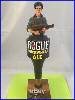 Beer Tap Handle Rogue Buckwheat Ale Beer Tap Handle Rare Figural Beer Tap Handle