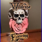 Beer Tap Handle Wildrose Brewing Skulls, Day Of The Dead