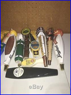 Beer Tap Handles Lot Of 16 Mixed Lot-Man Cave