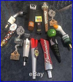 Beer Tap handle lot of 12 used See Pictures 001