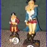 Beer tap handle captain morgan girls 2 taps