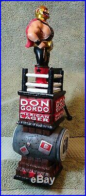 Beer tap handle lucha libre, Don Gordo 10.5 new in box