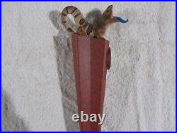 Blue Tongue Figural Lizard Beer Tap Handle New Very Rare