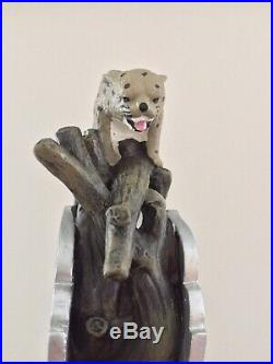 Braman Brewing Co Treeing Walker Hound Dog Bobcat Cougar Figural Beer Tap Handle