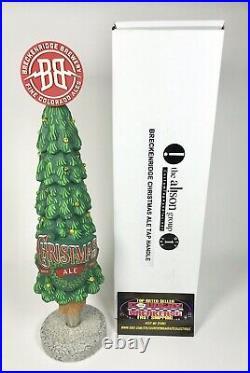 Breckenridge Christmas Ale Light Up Tree Beer Tap Handle 11.5 Tall BNIB RARE