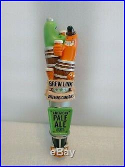 Brew Link Rare Beer Monsters Ivory White/APA 10 Draft Beer Keg Bar Tap Handle