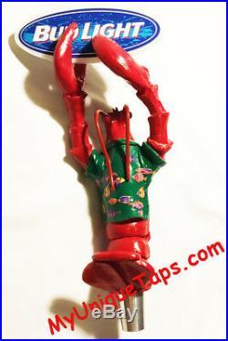 Bud Light Lobster Crawfish Beer Tap Handle Visit my ebay store crawdaddy Red