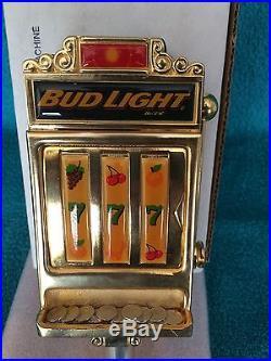 Bud Light Slot Machine Beer Tap Handle- New in Original Box