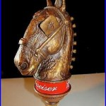 Budweiser Horse with Blinders Clydesdale Classic vintage Beer Tap Handle lot