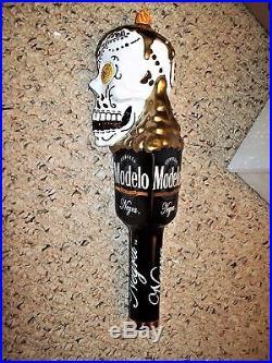 Cerveza Modelo & Negra Modelo Dual Skulls Dia De Los Muertos Beer Tap Handles