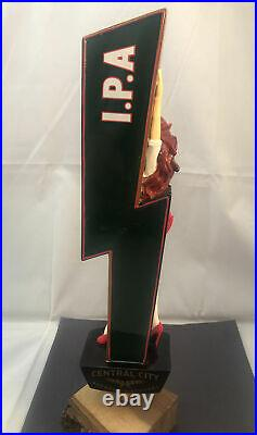 Central City Red Racer IPA Beer Tap Handle Rare Figural Girl Beer Tap Handle