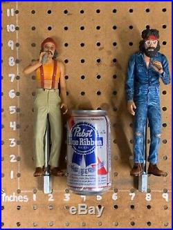 Cheech and Chong Beer Keg Tap Handle Pair 80s Party Movie Joint Marijuana Smoke